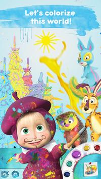 Masha and the Bear: Free Coloring Pages for Kids poster