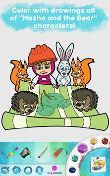 Masha and the Bear: Free Coloring Pages for Kids screenshot 11