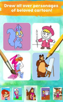 Masha and the Bear: Free Coloring Pages for Kids screenshot 13