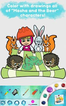 Masha and the Bear: Free Coloring Pages for Kids screenshot 17