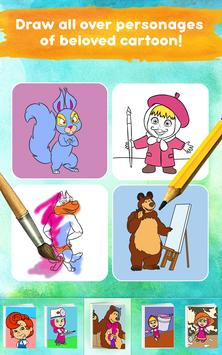 Masha and the Bear: Free Coloring Pages for Kids screenshot 19