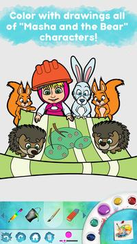 Masha and the Bear: Free Coloring Pages for Kids screenshot 1
