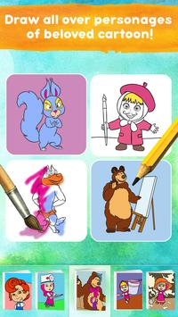 Masha and the Bear: Free Coloring Pages for Kids screenshot 6