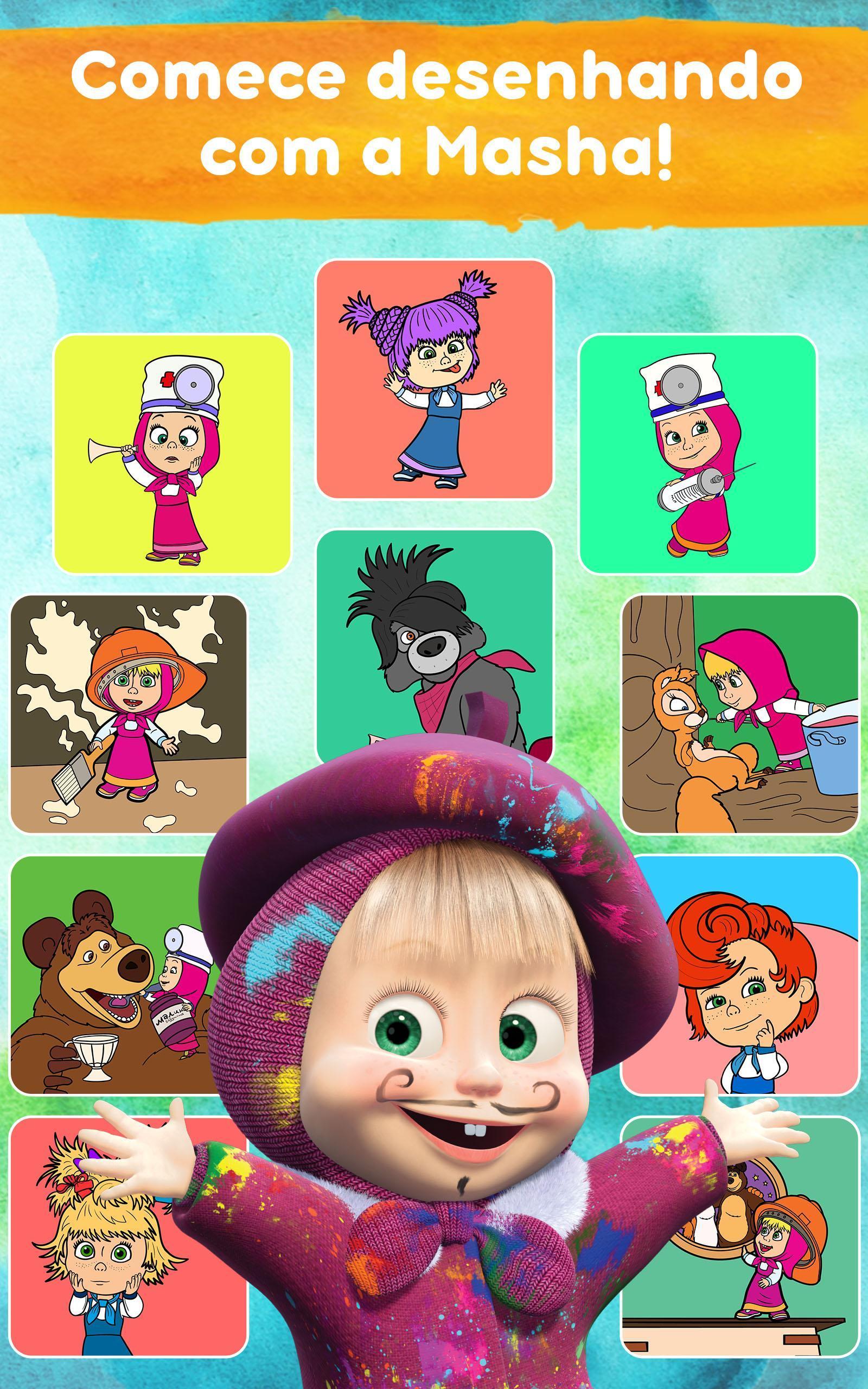Masha E O Urso Desenhos Para Colorir Online Para Android Apk Baixar