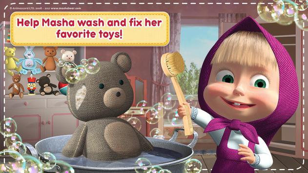 Маша и Медведь Игры для Девочек: Уборка в Доме تصوير الشاشة 5
