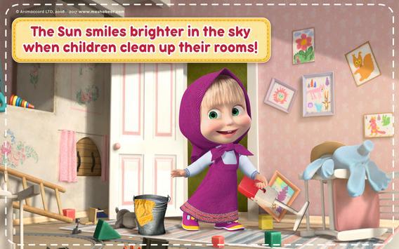 Маша и Медведь Игры для Девочек: Уборка в Доме تصوير الشاشة 10