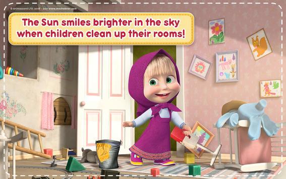 Маша и Медведь Игры для Девочек: Уборка в Доме تصوير الشاشة 18