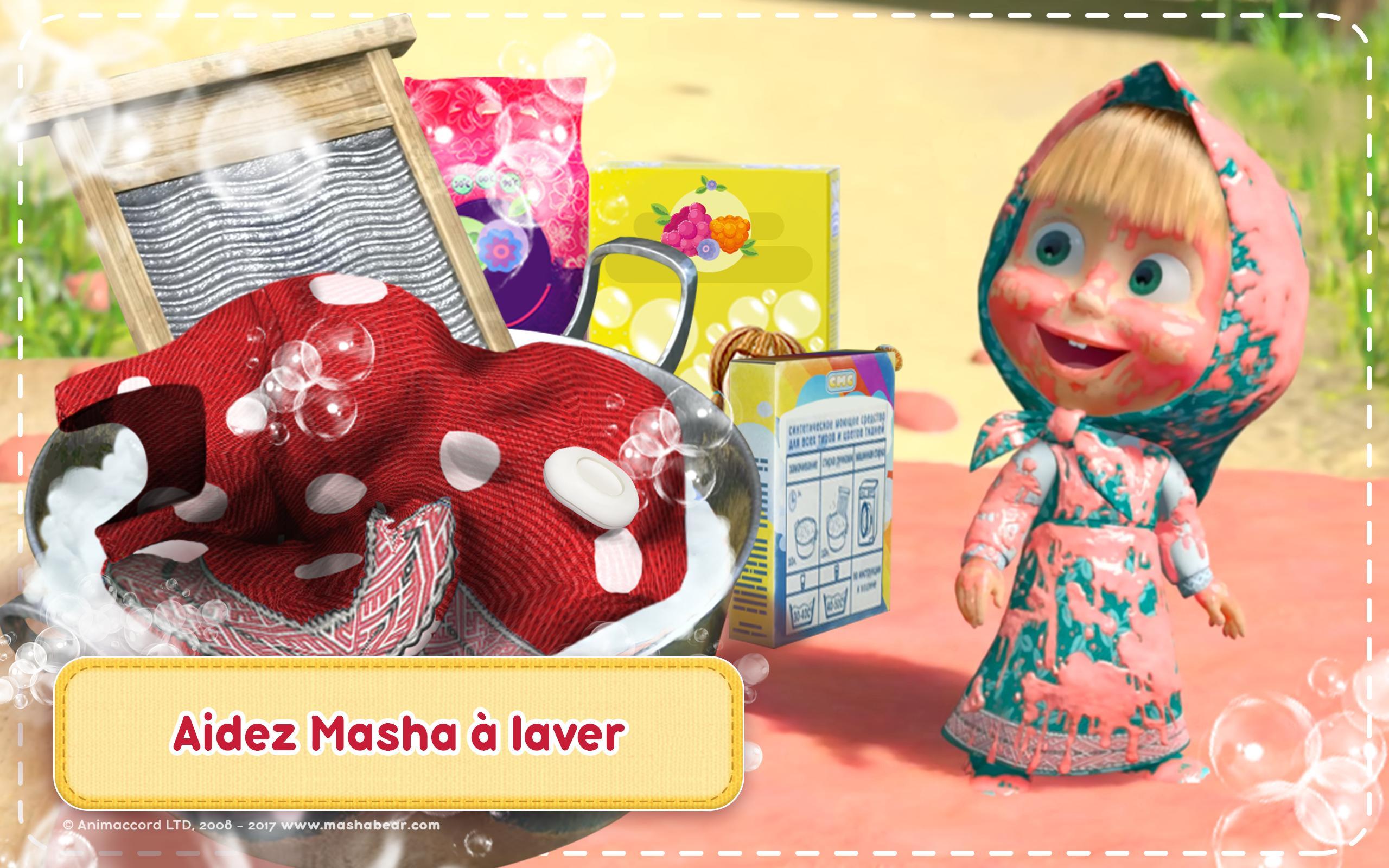Masha Et Michka Jeux De Nettoyage De Maison Pour Android Telechargez L Apk