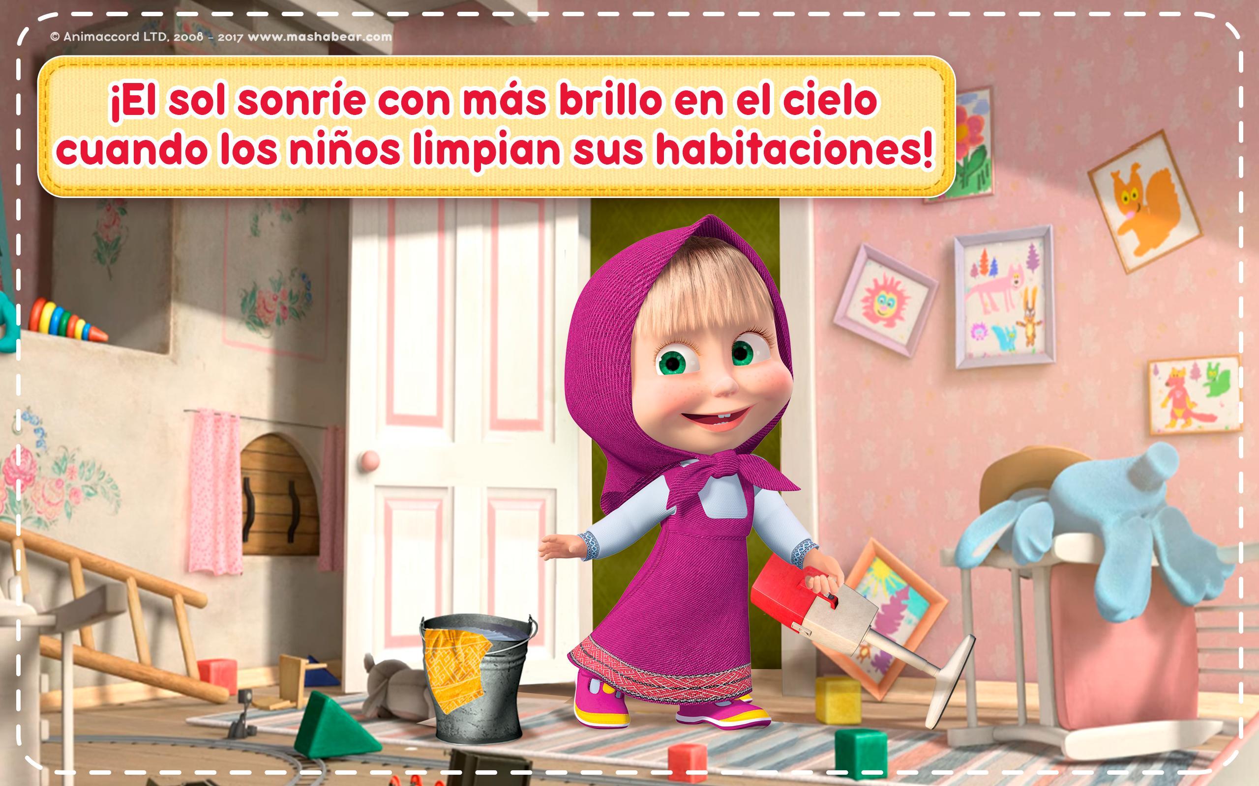 Giochi Di Pulire La Casa masha e orso: giochi di pulire casa per ragazze for android