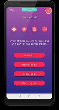 QuizTime India: Crorepati Quiz in Hindi & English screenshot 3