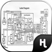 Industrial Wiring Diagram Electronic icon