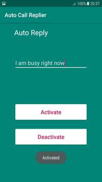 Auto Call Reply screenshot 3