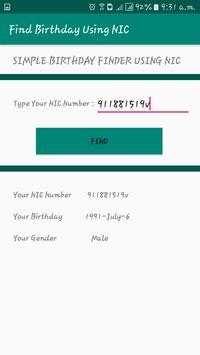 Birthday Finder Using NIC screenshot 1
