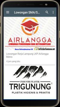 Info Loker Lampung screenshot 1