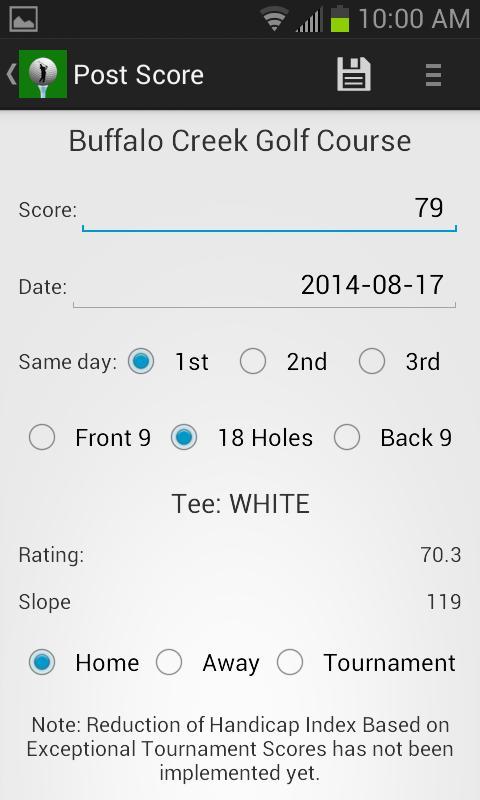 Golf handicap calculator free -us canada australia 2. 6 | seedroid.