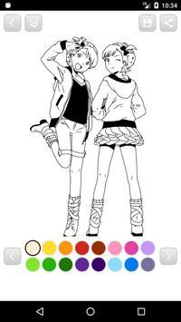 Anime Manga Coloring Book screenshot 9