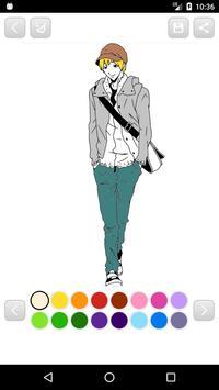 Anime Manga Coloring Book screenshot 13