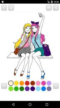 Anime Manga Coloring Book screenshot 12