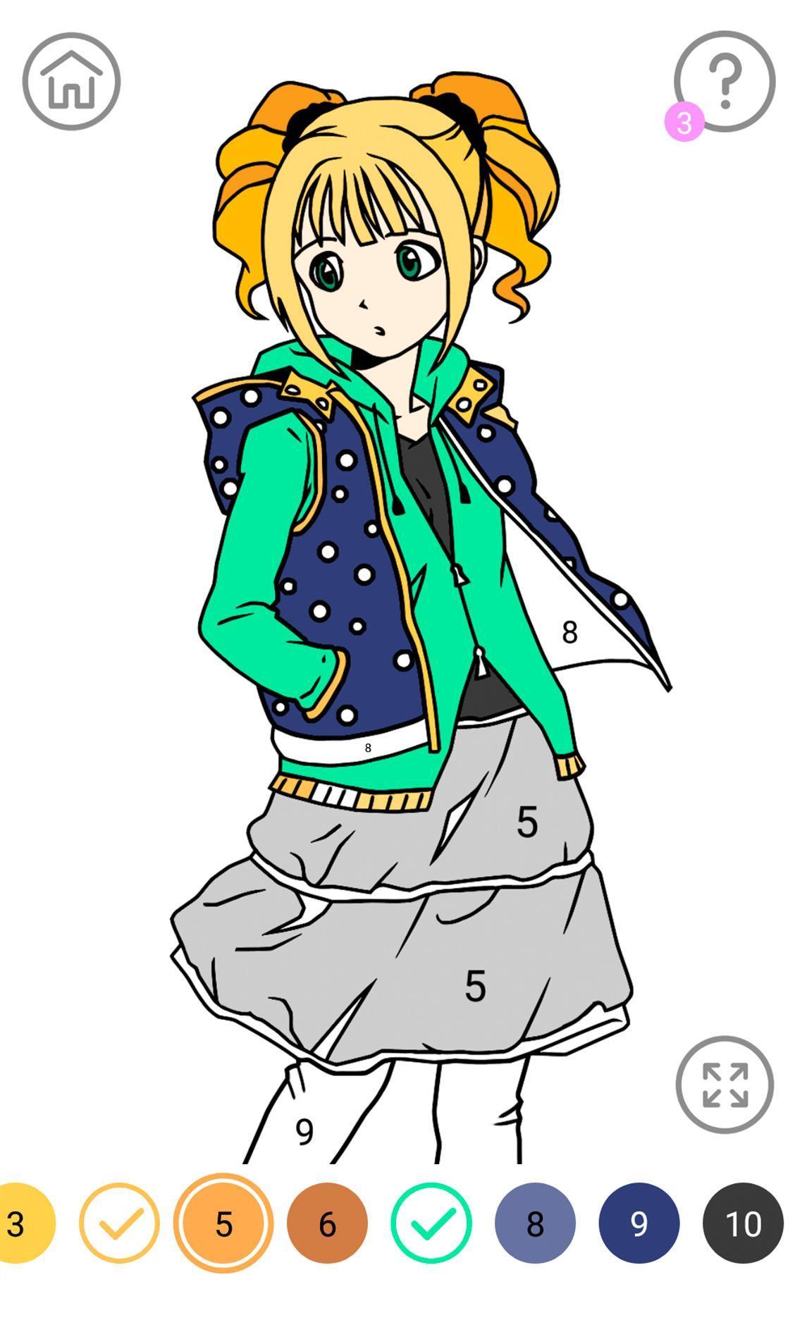 Anime Juegos Para Colorear For Android Apk Download
