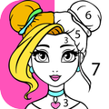Girls Coloring Book - Color by Number for Girls