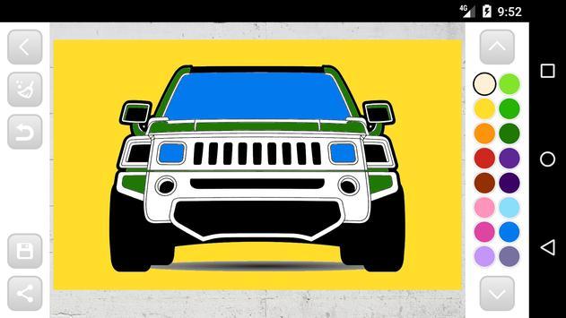 Best Cars Coloring Book Game screenshot 6