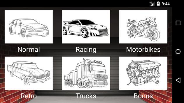 Best Cars Coloring Book Game screenshot 1