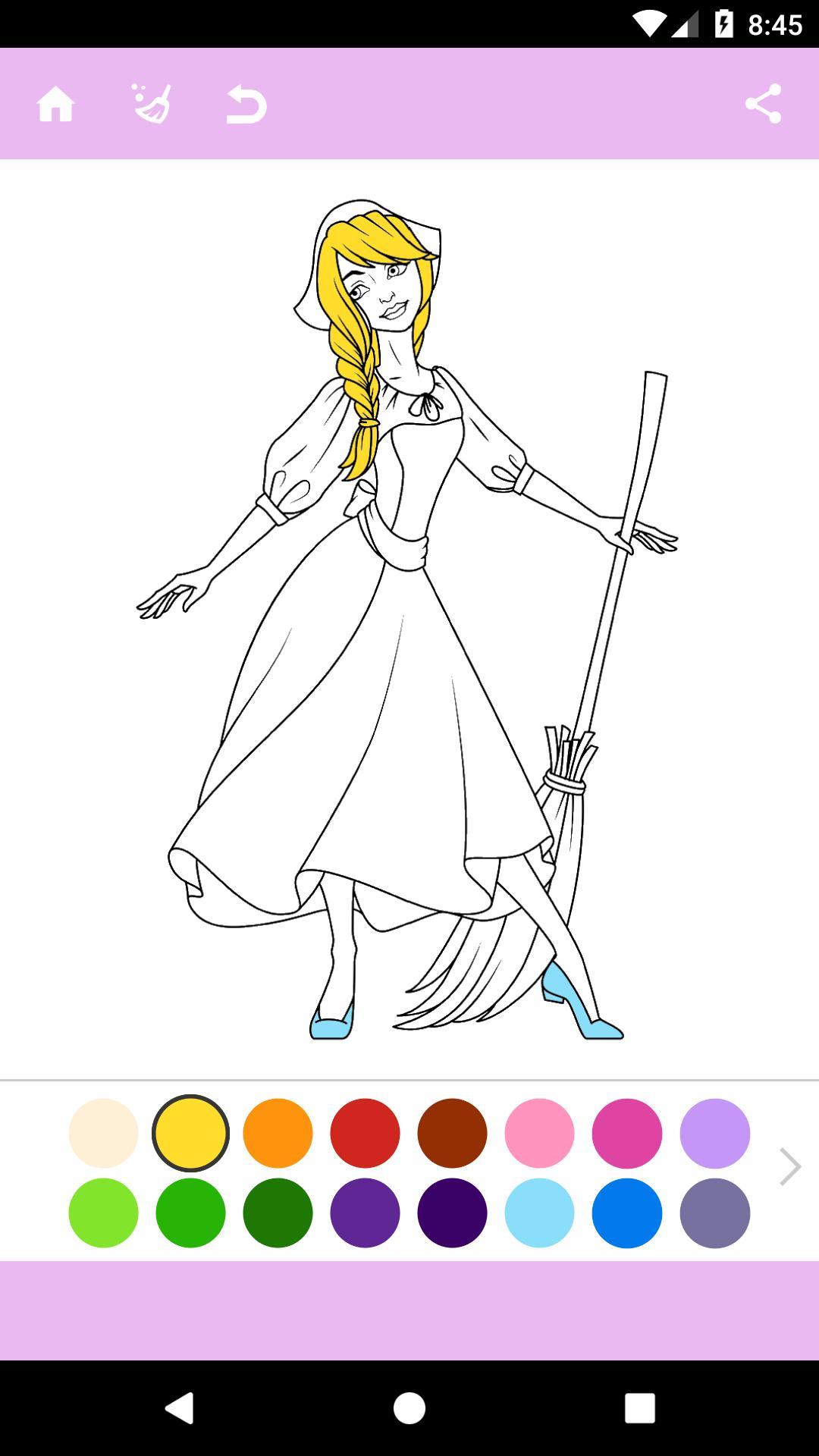 раскраски принцессы для андроид скачать Apk