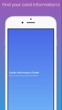 Cards Information Finder poster