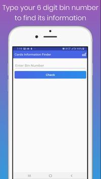 Cards Information Finder screenshot 1