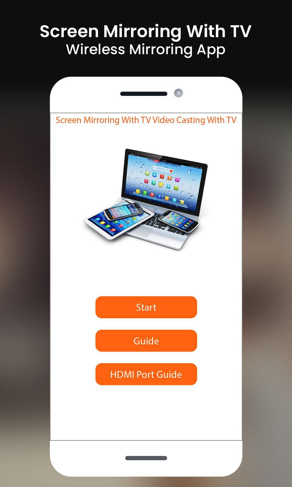 Screen Mirroring With TV Wireless Mirroring App for Android