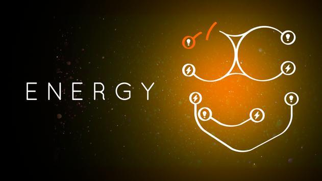 الطاقة: دائرة مكافحة الإجهاد الملصق