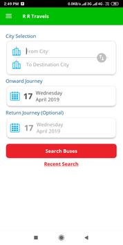 R R Travels Lines screenshot 2