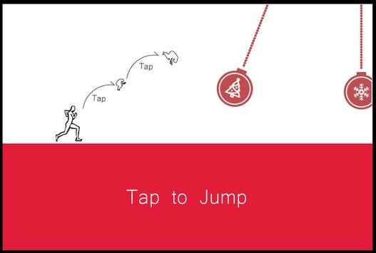 Stickman Santa Christmas Run screenshot 1