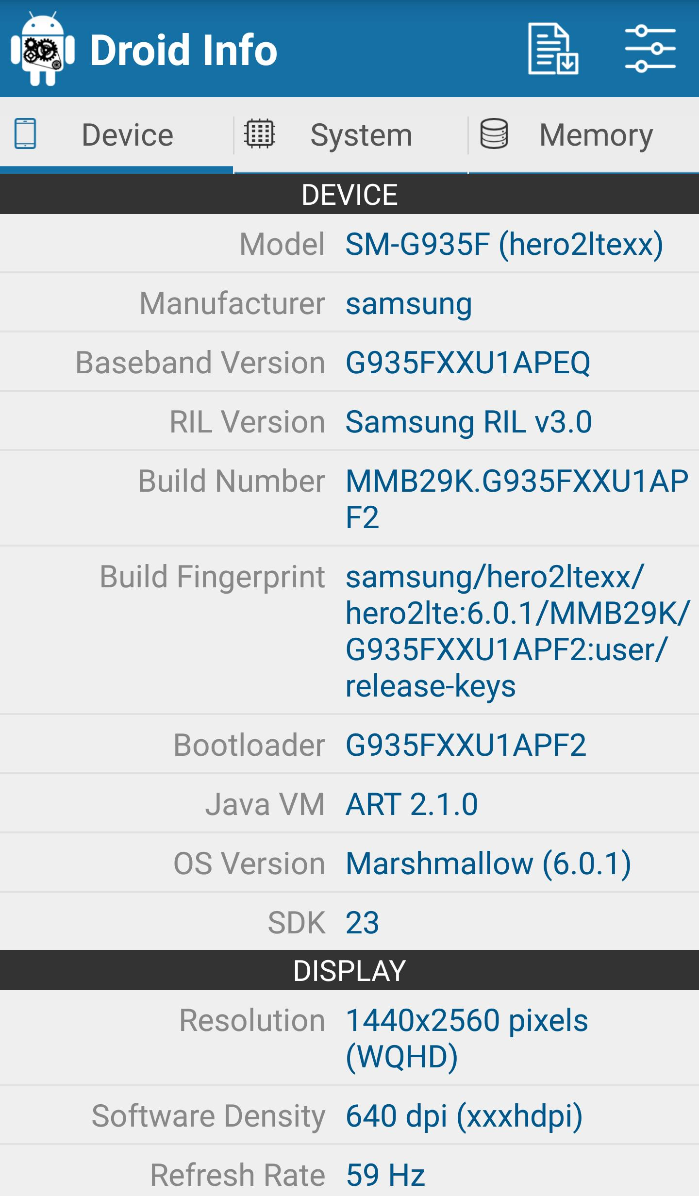 Droid Hardware Info for Android - APK Download