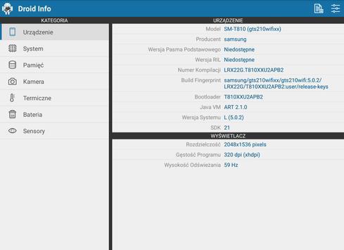 Droid Hardware Info screenshot 8