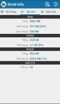 Droid Hardware Info ảnh chụp màn hình 3