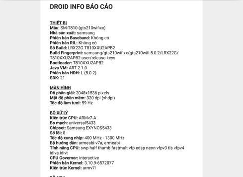 Droid Hardware Info ảnh chụp màn hình 10