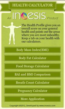 Diet Plus-Multiple Health Calc poster