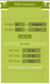 Diet Plus-Multiple Health Calc screenshot 2