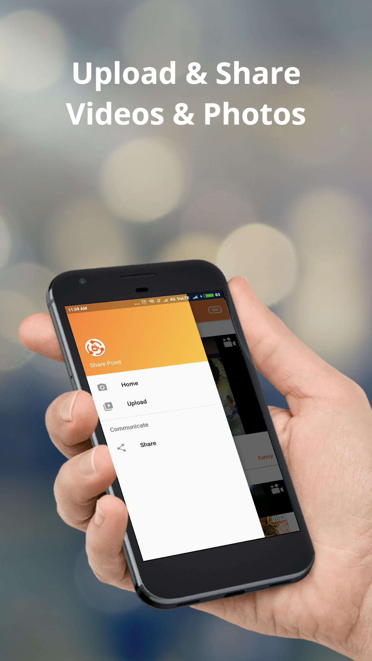 Share Point - Unlimited Video & Photos Sharing App for Android - APK