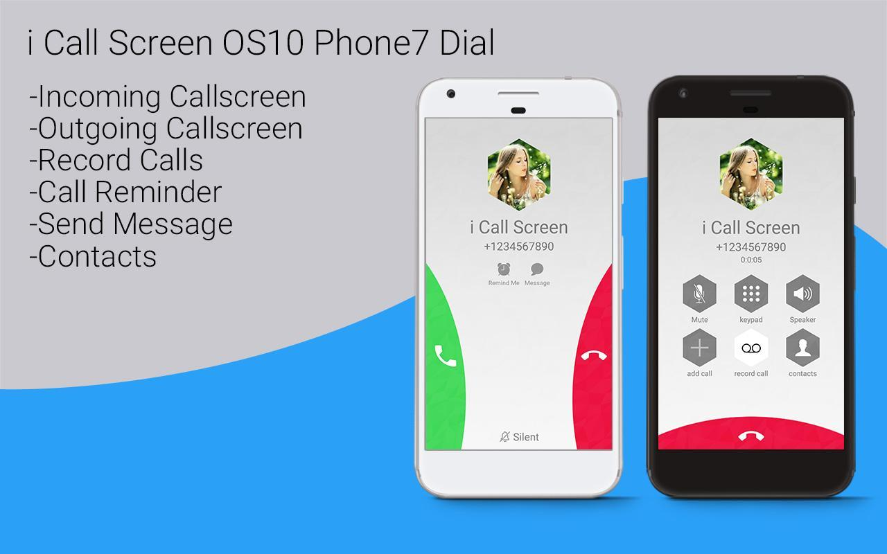 HD Phone 7 i Call Screen OS10 for Android - APK Download