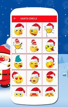 Santa emoji poster
