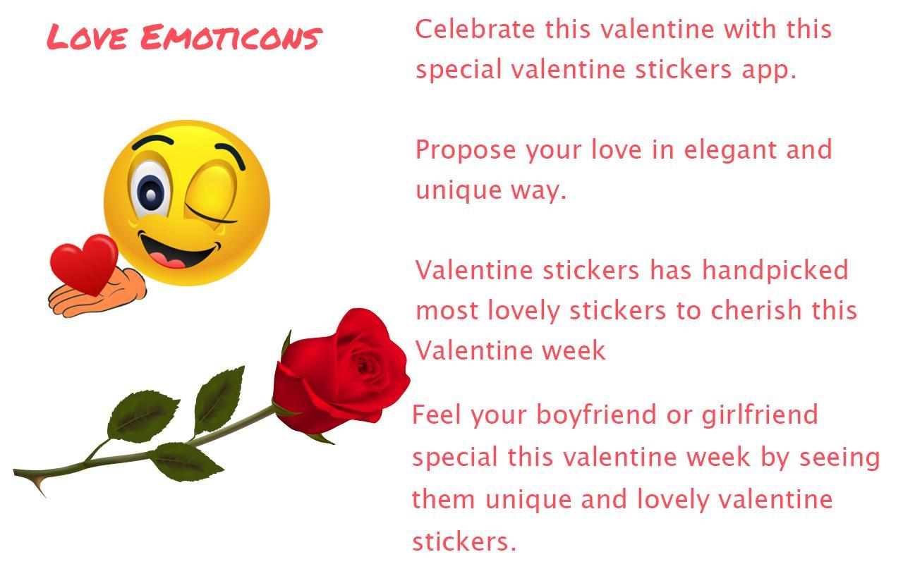 ♥♥Love Emoticons - Valentine Emoji♥♥ for Android - APK