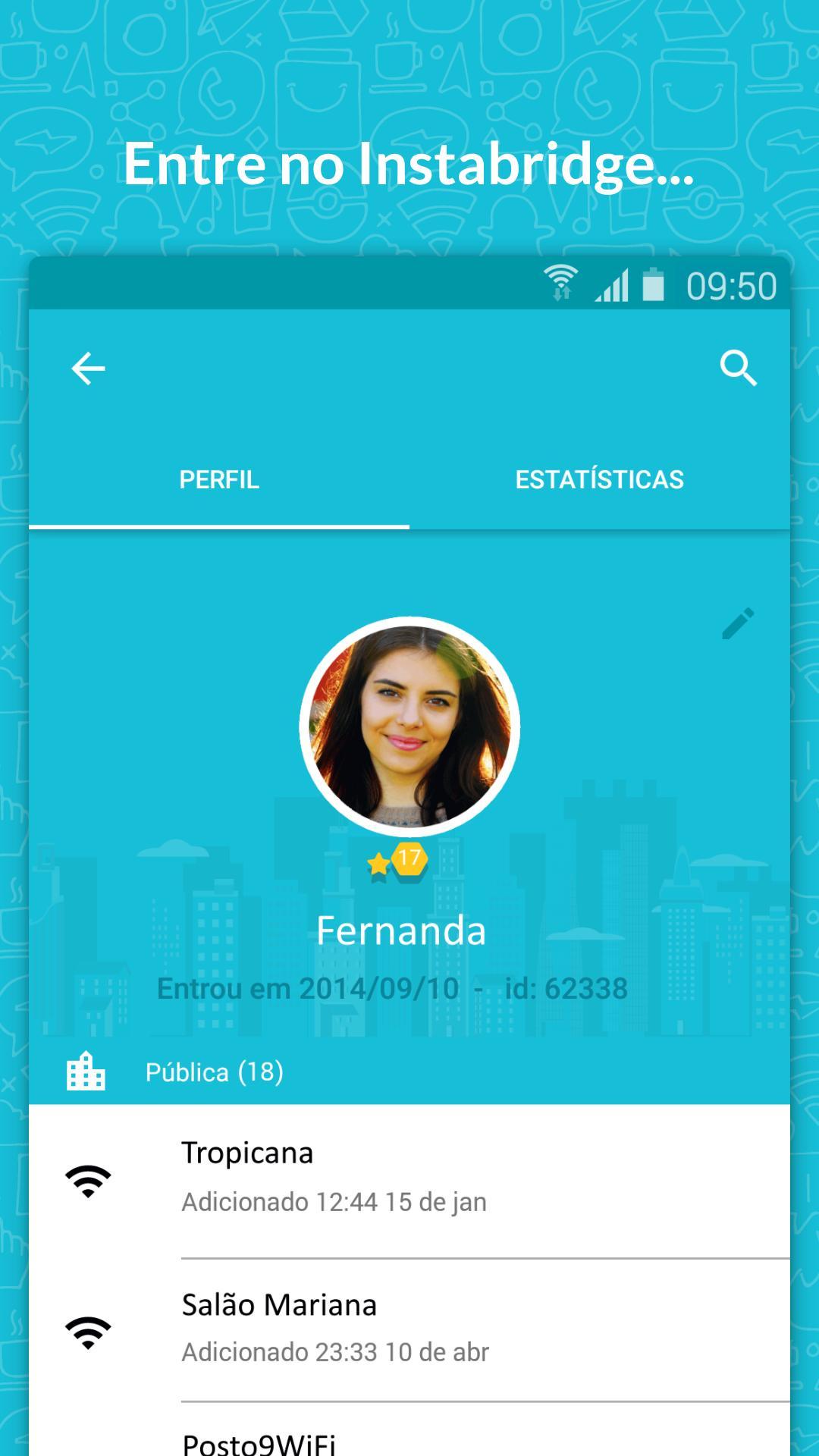 Senha WiFi grátis Instabridge para Android - APK Baixar