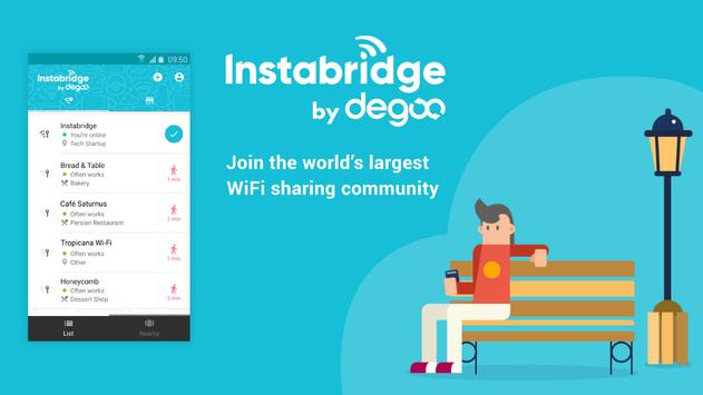 Free WiFi Passwords & Hotspots by Instabridge poster