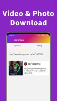 Instagram से फोटो और वीडियो डाउनलोड करे, IG repost स्क्रीनशॉट 1