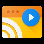 Web Video Cast | Browser to TV (Chromecast/DLNA/+) आइकन