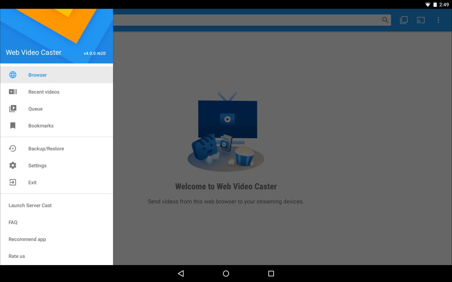 Web Video Cast | Browser to TV/Chromecast/Roku/+ for Android