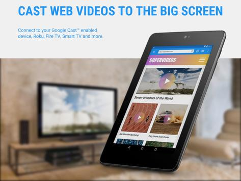Web Video Cast | Browser to TV/Chromecast/Roku/+ screenshot 7