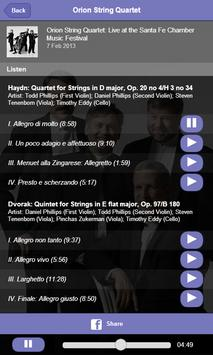 Orion String Quartet screenshot 3